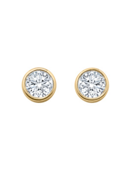 Gossamer 18ct Yellow Gold 0.33cttw Diamond Stud Earrings by Goldsmiths