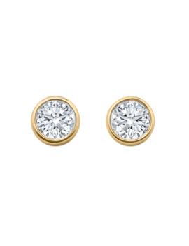 gossamer-18ct-yellow-gold-033cttw-diamond-stud-earrings by goldsmiths