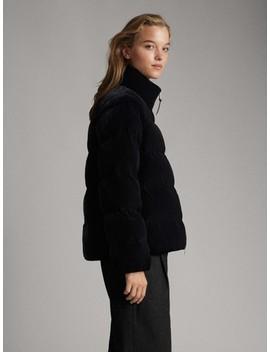 jachetă-matlasată-din-catifea-neagră by massimo-dutti