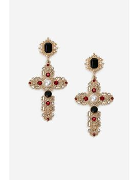 ruby-cross-drop-earrings by topshop