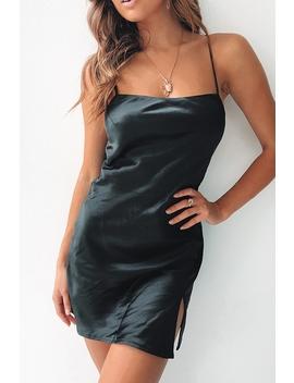 Empty Glasses Dress   Silk Black by Stelly