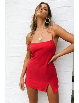 Empty Glasses Dress   Red by Stelly