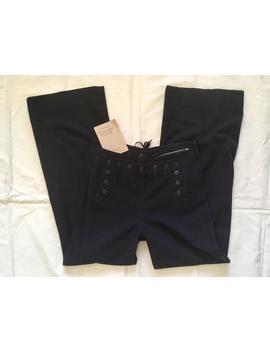 vintage-1940s-ww2-sailor-pants-_-navy-blue-wool-trousers-_-medium-40s-wide-leg-pants by etsy
