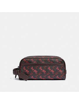 Travel Kit With Horse And Carriage Print by Coach