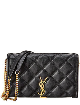 saint-laurent-becky-quilted-leather-wallet-on-chain by saint-laurent