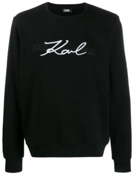 sweatshirt-mit-logo-stickerei by karl-lagerfeld