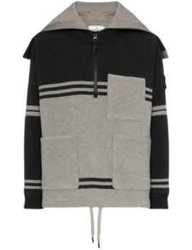 stripe-hooded-pocket-zip-jumper by stone-island