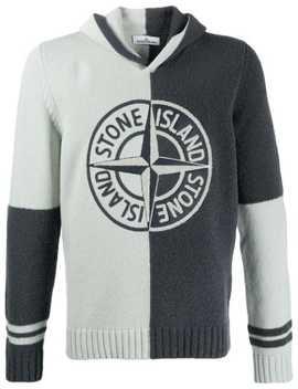 two-tone-logo-hoodie by stone-island