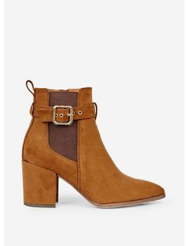 Tan 'alma' Buckle Boots by Dorothy Perkins