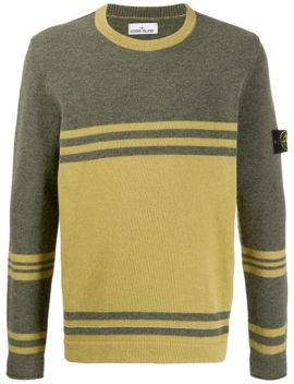 crewneck-colour-block-sweater by stone-island