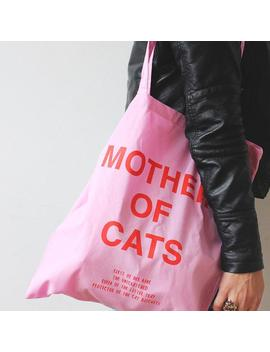 mother-of-cats-tote-bag---pink by etsy