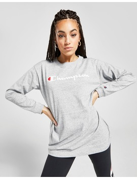 champion-script-long-sleeve-boyfriend-t-shirt by jd-sports