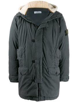 layered-hood-down-coat by stone-island