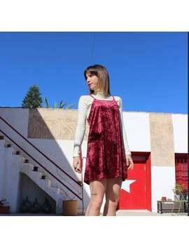 vintage-1990s-crushed-velvet-slip-dress by etsy