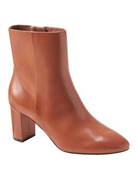 Block Heel Ankle Boot by Banana Republic