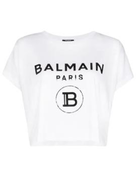 logo-print-boxy-fit-t-shirt by balmain