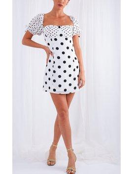 Robin Mini Contrast Dress by Pretty Lavish