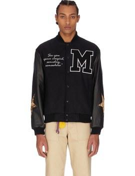 lone-ranger-varsity-jacket---black by malice-studios
