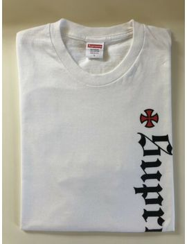 supreme-x-independent-f_w-2017-white-old-english-box-logo-t-shirt-tee,-large-l by ebay-seller