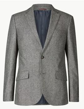 textured-tailored-fit-3-piece-suit by marks-&-spencer