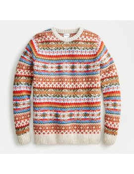 jcrew-x-harley-of-scotland-fair-isle-crewneck-sweater by jcrew