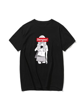 fashion-mens-senpai-anime-girl-nerdy-cotton-black-print-t-shirt-women-manga-streetwear-tee-cotton-tshirt-unisex-harajuku-clothe by aliexpresscom