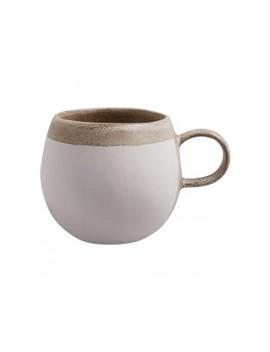 Eggshell White Stoneware Round Mug D9cm Eggshell White Stoneware Round Mug D9cm by Olivia                         Olivia