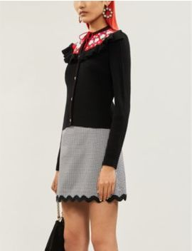 floral-embroidered-wool-cardigan by miu-miu