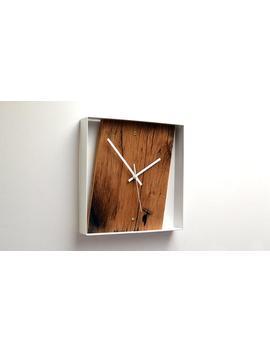 reclaimed-french-oak-wall-clock by etsy