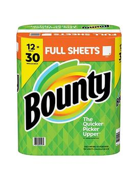 Bounty Paper Towels, White, 12 Rolls = 30 Regular Rolls by Bounty
