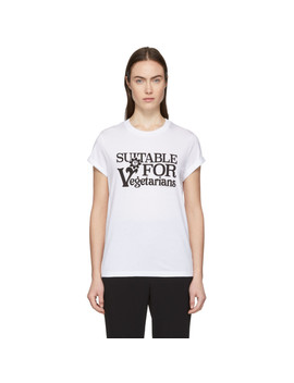 white-suitable-for-vegetarians-t-shirt by stella-mccartney