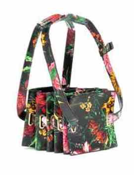 accordion-mini-floral-leather-tote by y_project