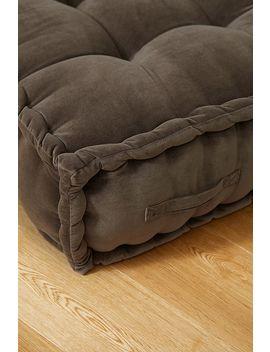 reema-dark-grey-velvet-base-cushion by urban-outfitters