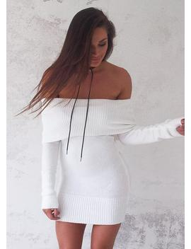 storm-knit-dress---white by lioness