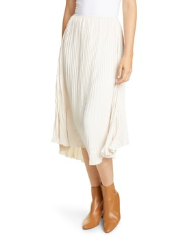 crushed-pleated-drape-skirt by vince
