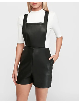 vegan-leather-overall-shorts by express