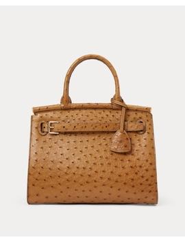 Ostrich Medium Rl50 Handbag by Ralph Lauren