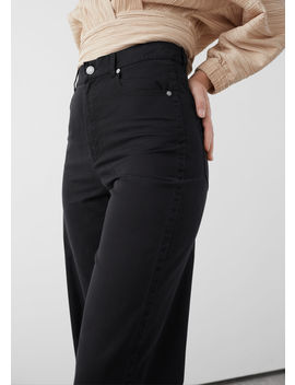 Relaxed Fit Cotton Blend Trousers by & Other Stories