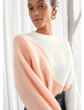 Colour Block Wave Sweater by & Other Stories