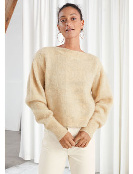 wool-blend-boat-neck-sweater by &-other-stories
