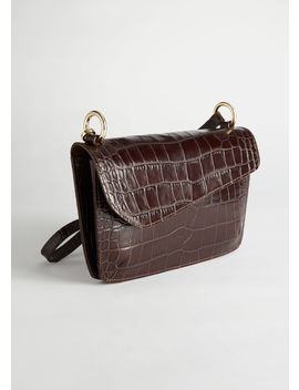 Asymmetric Flap Croc Baguette by & Other Stories