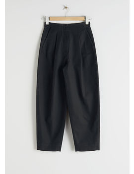 Wide Leg Cotton Chino Trousers by & Other Stories