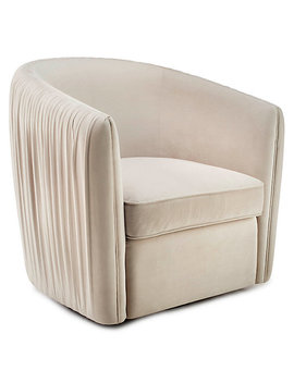 Aria Pleated Swivel Chair by Z Gallerie