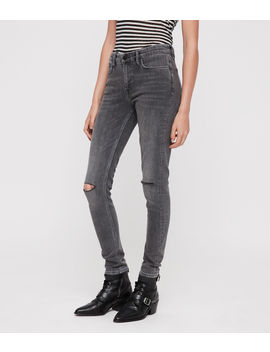 Grace Slashed Skinny Jeans by Allsaints
