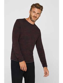 sweater-aus-zweifarbigem-strick,-baumwoll-mix by esprit