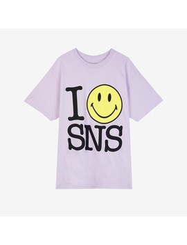 I Smiley Sns Tee   Article No. Snsctm3 Lilac by Chinatown Market