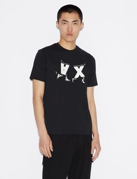 Regular Fit Graphic Logo Tee by Armani Exchange