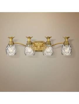 "Anana Plantation 28 1/2""W Antique Brass 4 Light Bath Light by Lamps Plus"