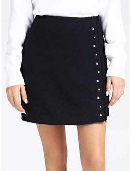 BouclÉ Skirt With Studs by Guess