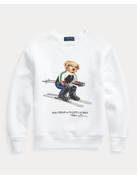 Fleece Sweatshirt Mit Ski Bear by Ralph Lauren